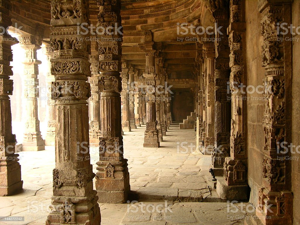 Corridors of Ancient Wisdom royalty-free stock photo