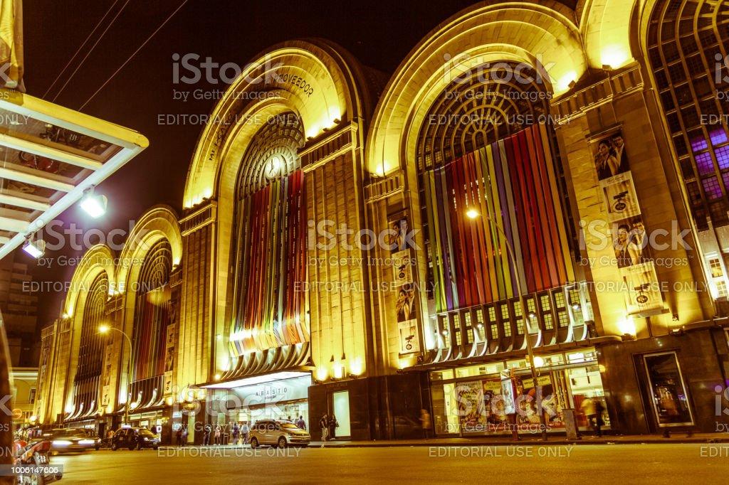 Corrientes Street, Buenos Aires stock photo