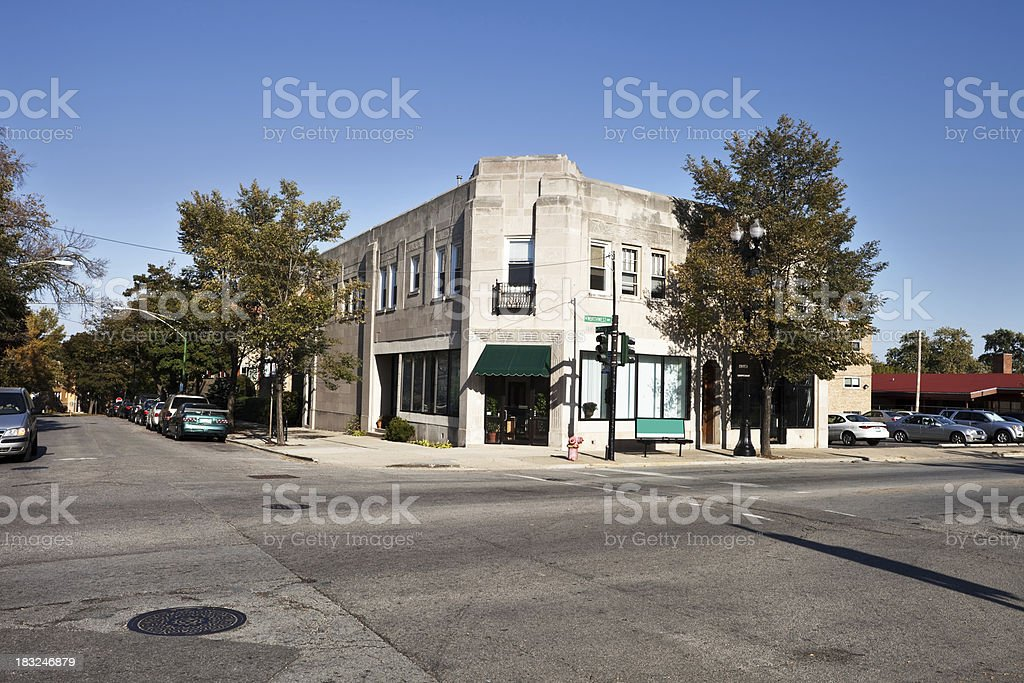 Corrner Shop in Norwood Park,  Chicago royalty-free stock photo