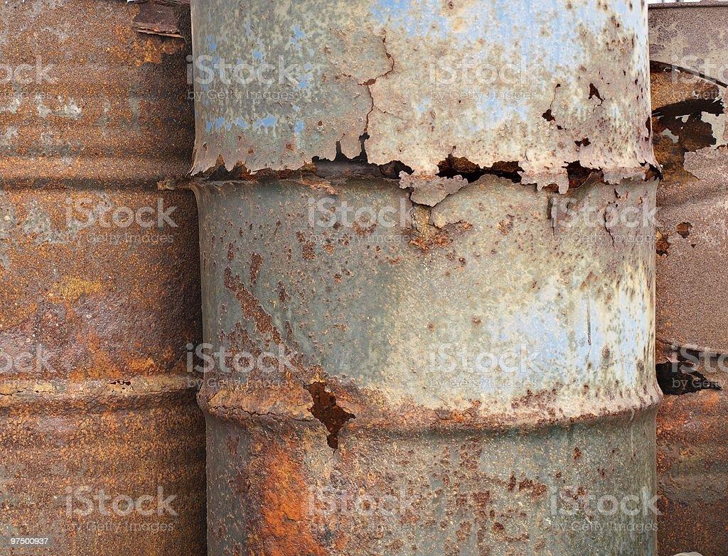 Corroded Barrels royalty-free stock photo