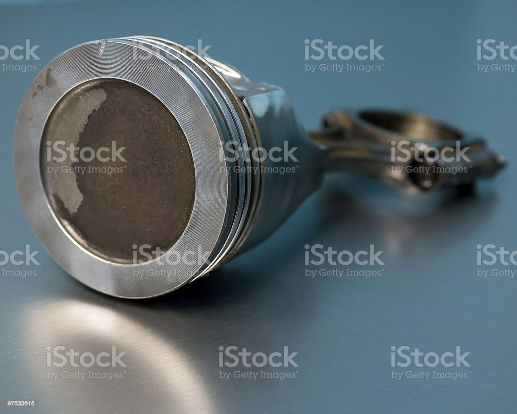 Corroded engine piston and connecting rod royalty-free stock photo