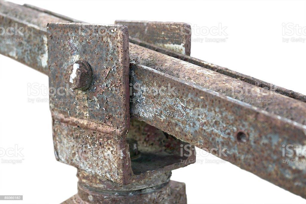 corroded hinge detail royalty free stockfoto