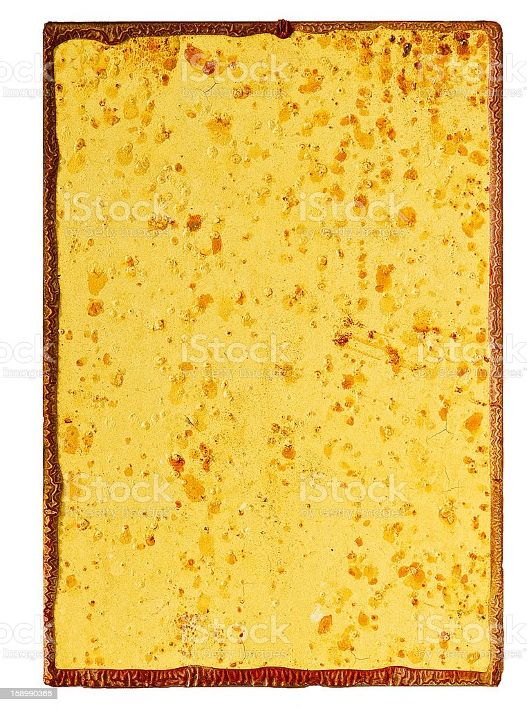 Corroded metal plate royalty-free stock photo