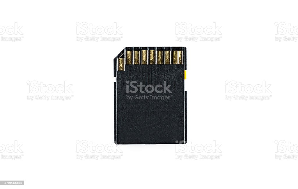 Corroded SD Card stock photo