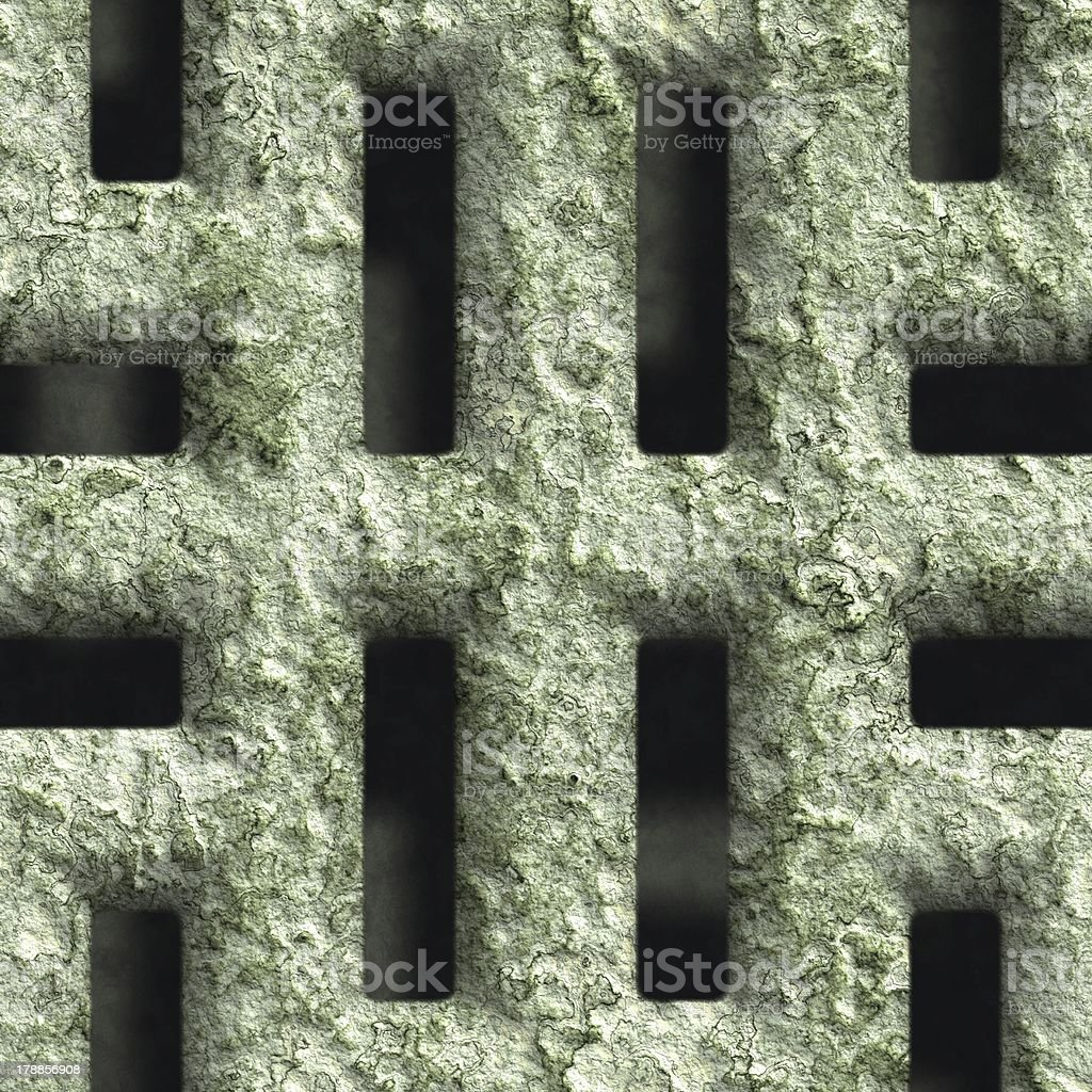 Corroded square vent royalty-free stock photo