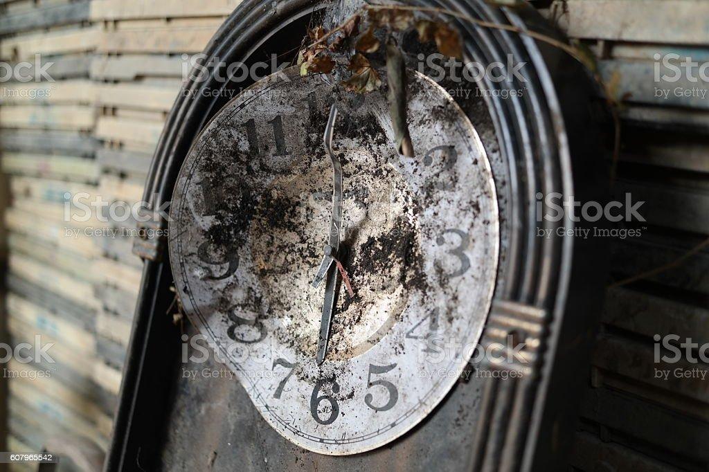 Corrosion clock stock photo