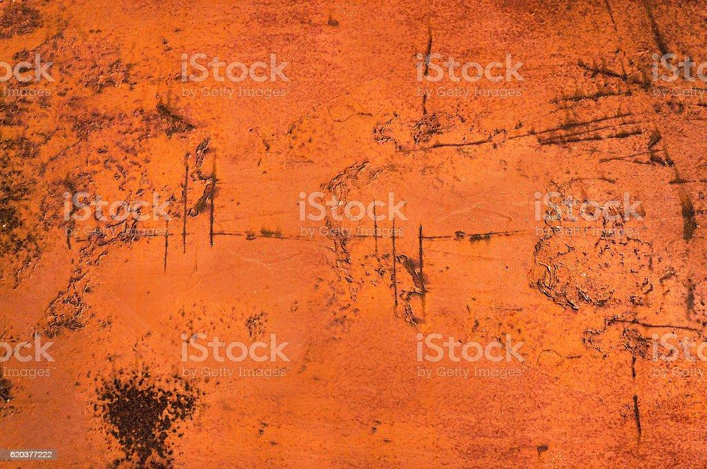 Korozja na pomarańczowym tle metalowe zbiór zdjęć royalty-free