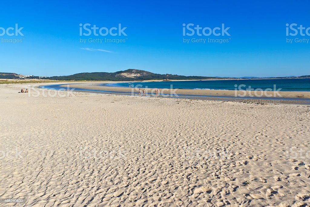 Corrubedo beach royalty-free stock photo