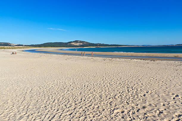 Corrubedo beach stock photo