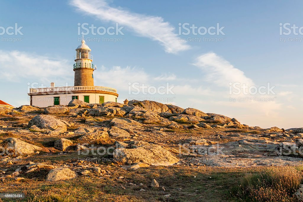 Corrubedo lighthouse royalty-free stock photo