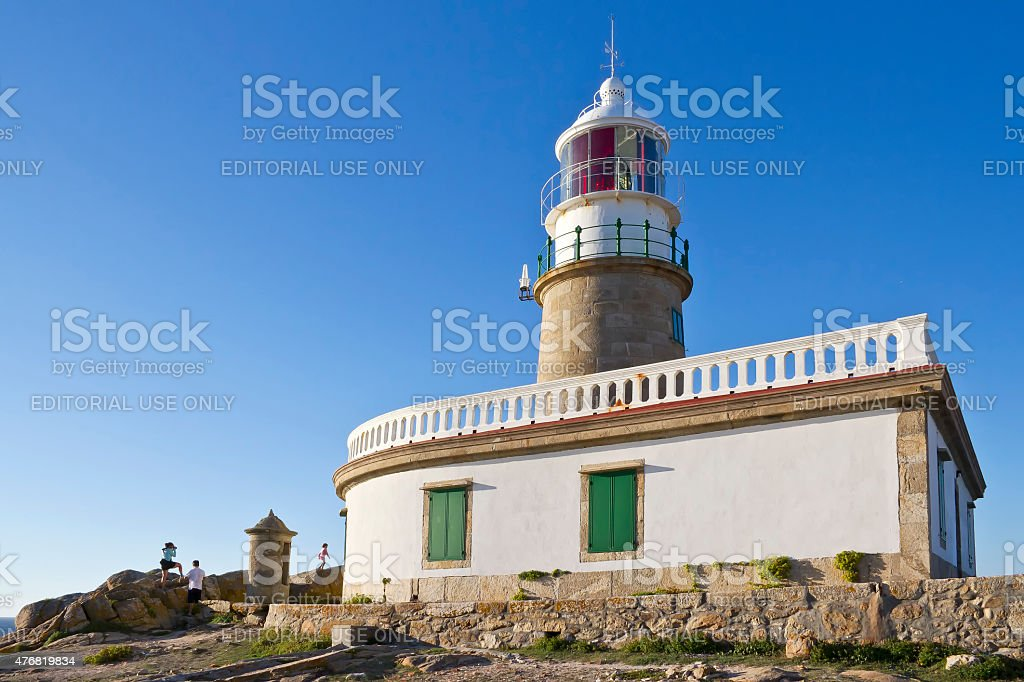 Corrubedo lighthouse stock photo