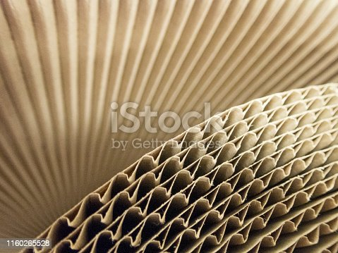 istock Corrugage cardboard close up kraft 1160265528
