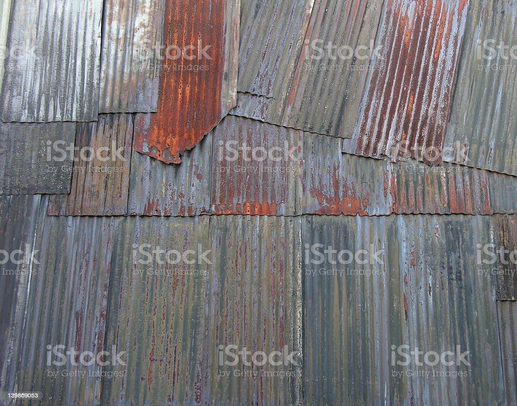 Corrugate iron stock photo