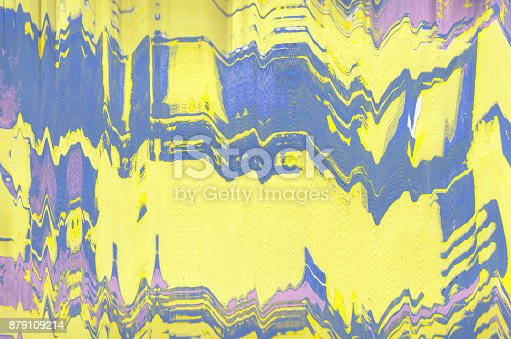 istock Corrugated abstract background. Silk screen on paper and created by scanner. Multicolored background. Modern art. Contemporary art. Abstract art. 879109214