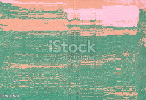 istock Corrugated abstract background. Silk screen on paper and created by scanner. Multicolored background. Modern art. Contemporary art. Abstract art. 879112970