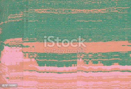 istock Corrugated abstract background. Silk screen on paper and created by scanner. Multicolored background. Modern art. Contemporary art. Abstract art. 879116992