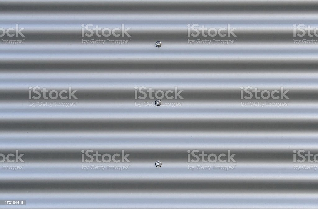 Corrugated aluminium stock photo