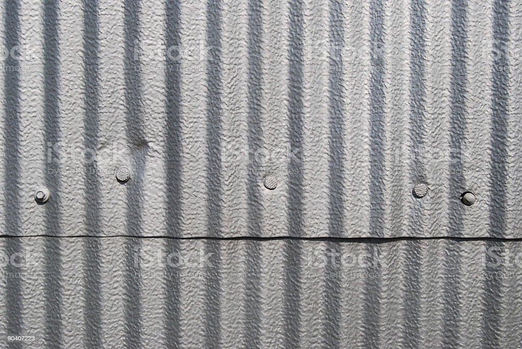 Corrugated Aluminum Background 2 royalty-free stock photo