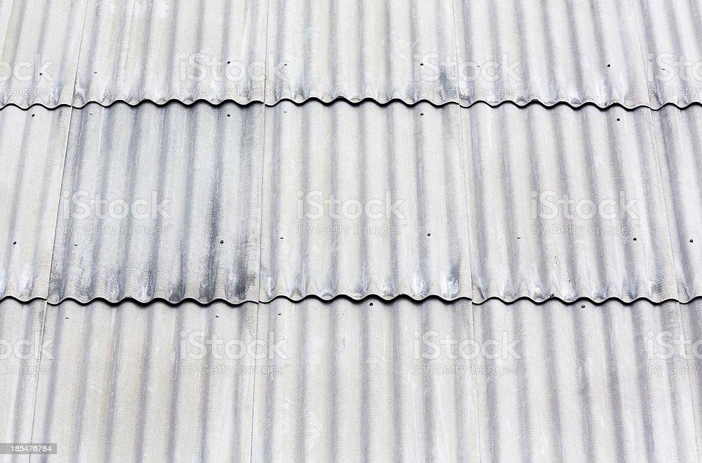 Amianto telhado Corrugado - foto de acervo