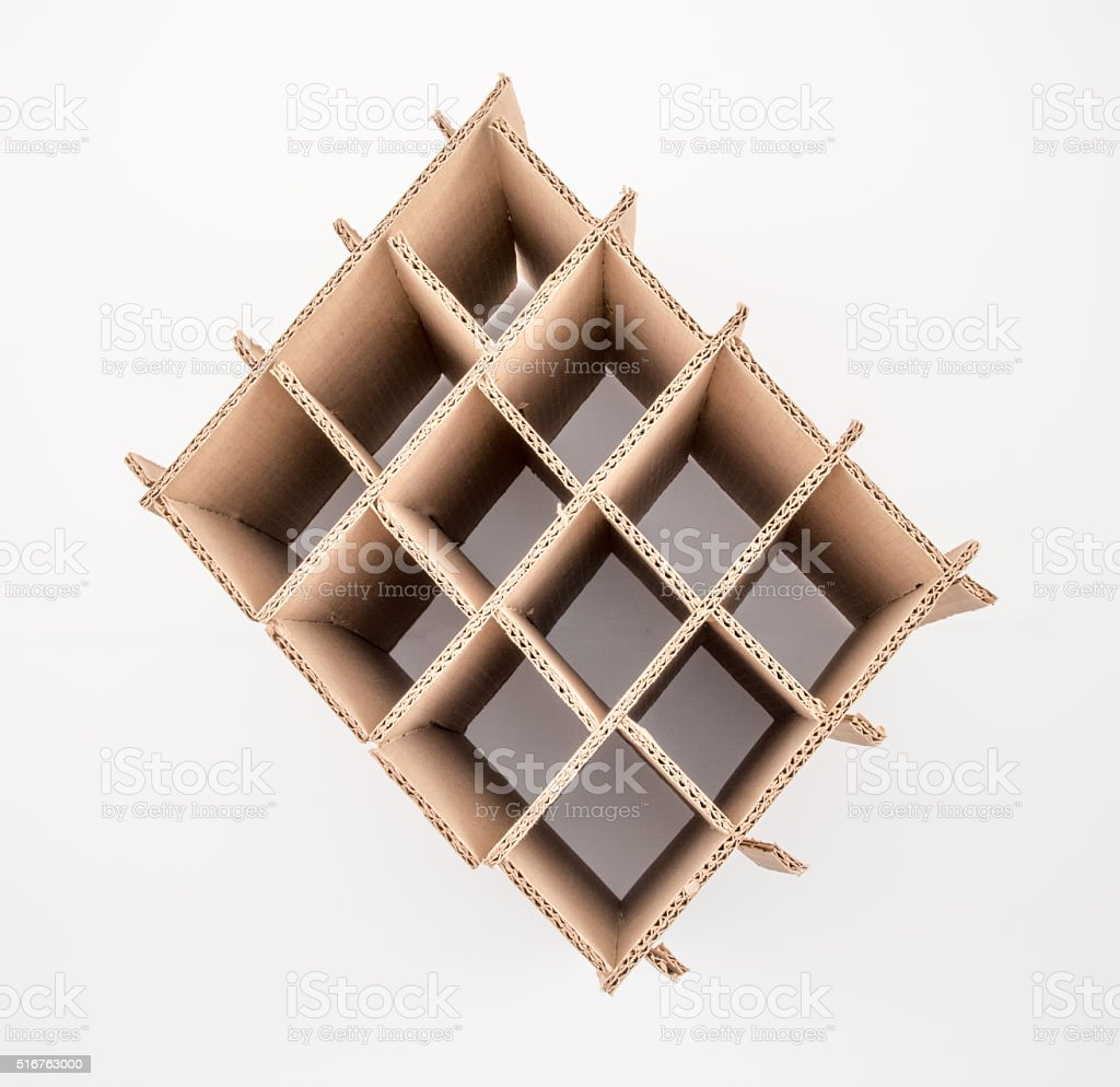 Corrugated Box Partition stock photo