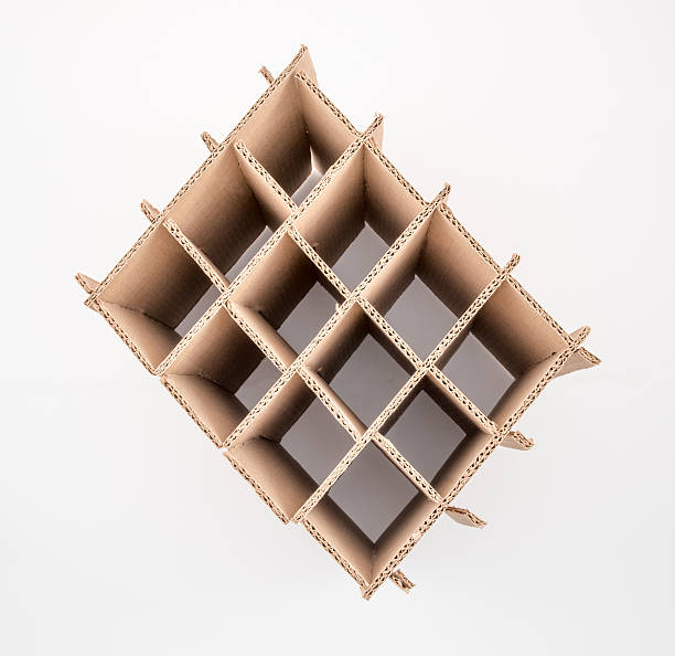 Carton ondulé Boîte de cloison - Photo