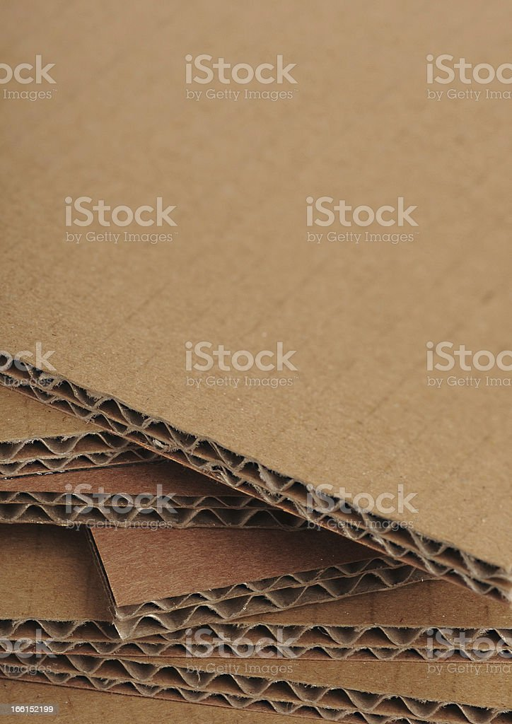 Corrugated Cardboard Background, Carton Detail royalty-free stock photo