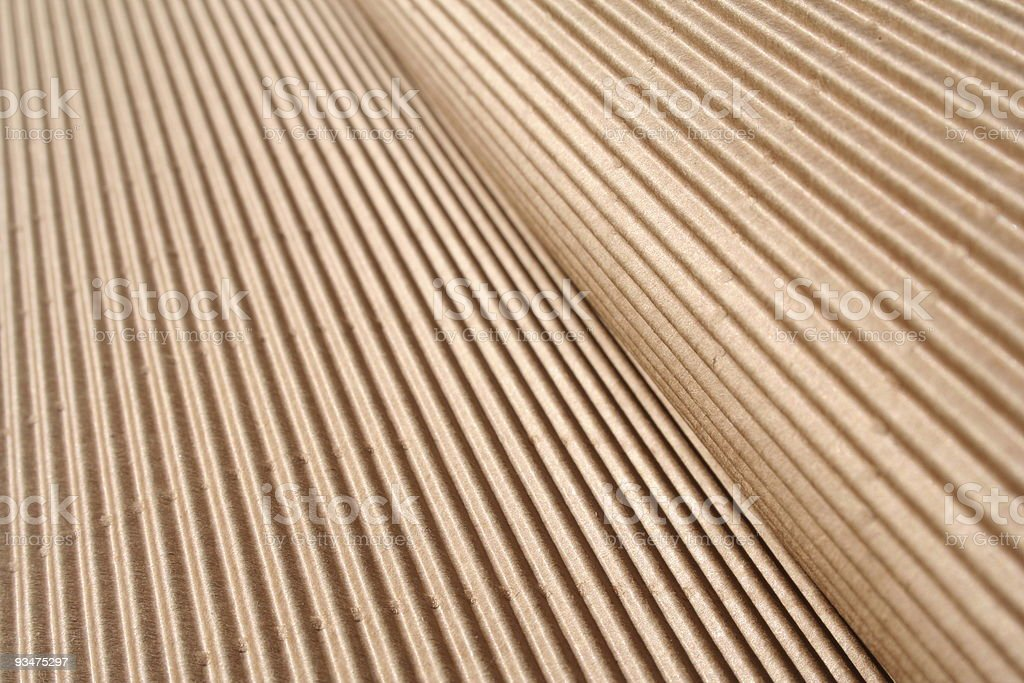 Corrugated cardboard big waves royalty-free stock photo
