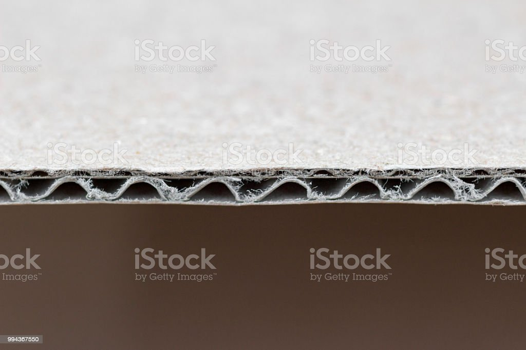 corrugated cardboard detail stock photo