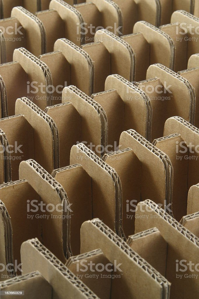 Corrugated Cardboard Peaks and Valleys stock photo
