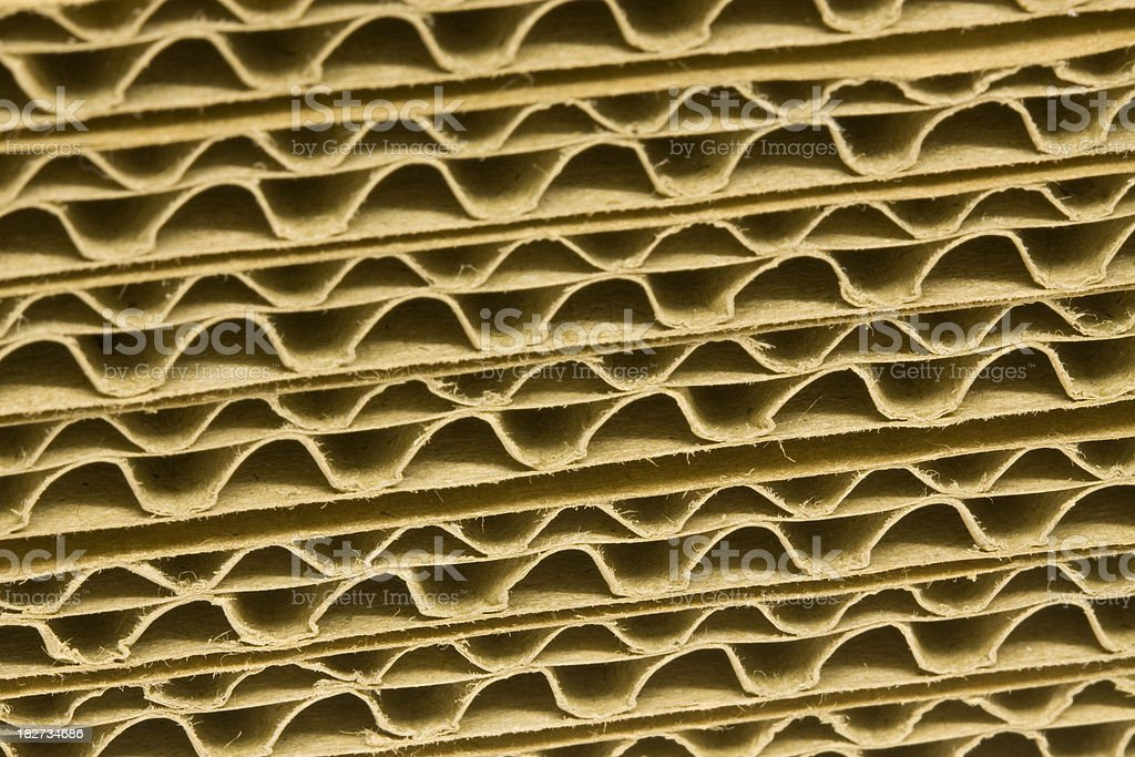 Corrugated Cardboard. royalty-free stock photo