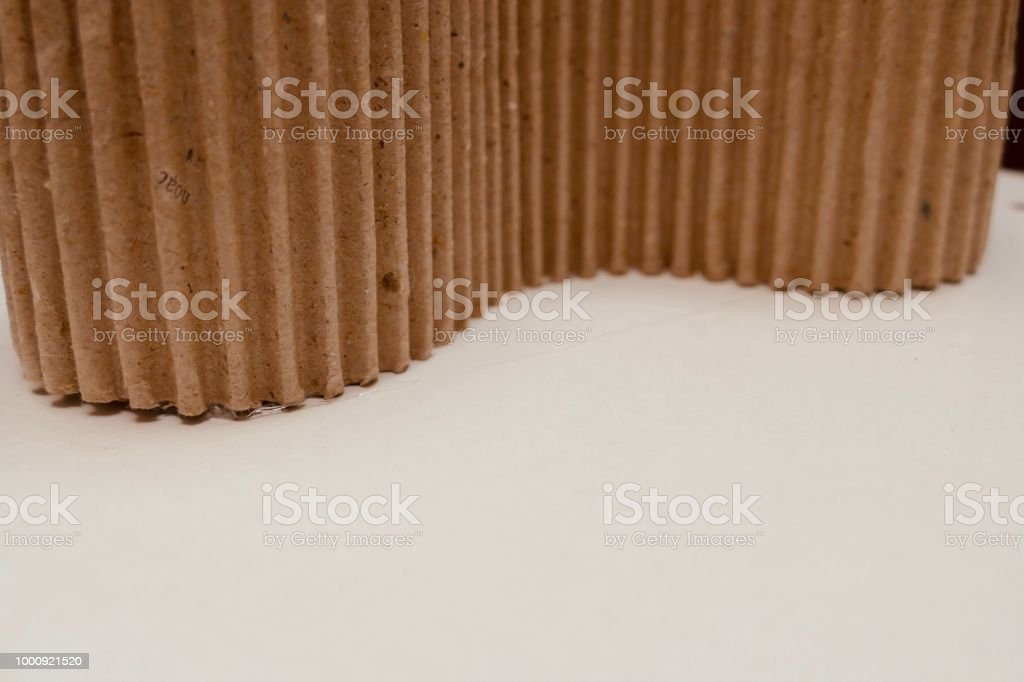 Corrugated Cardboard Rolls Stock Photo - Download Image Now