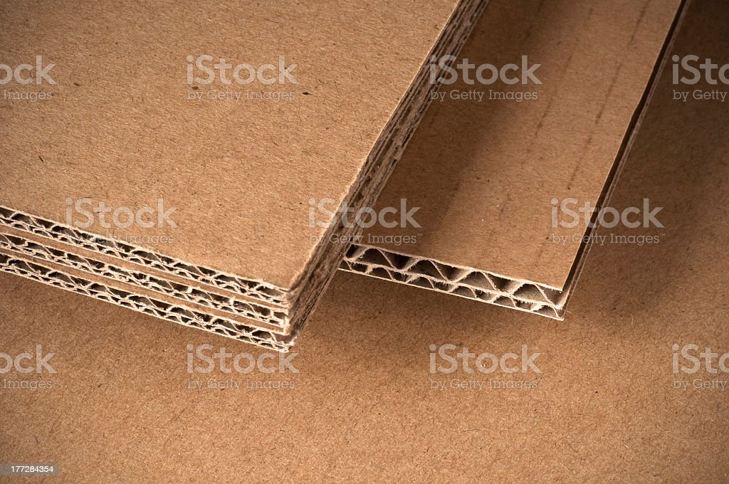 corrugated cardboard sheet stock photo