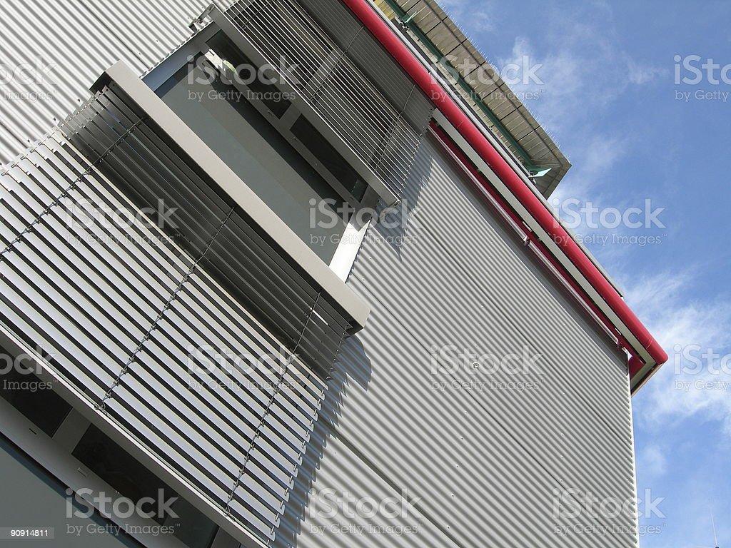 Corrugated Facade 01 royalty-free stock photo