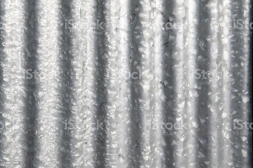 Corrugated Galavinised Iron Sheet royalty-free stock photo