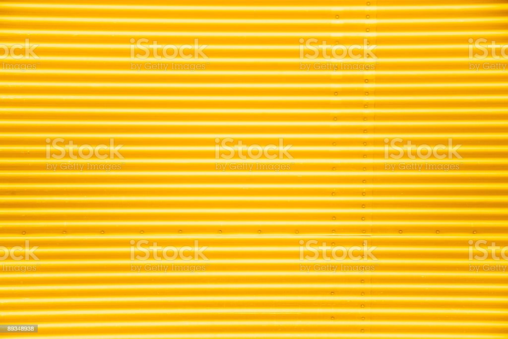 Corrugated Garage Door stock photo