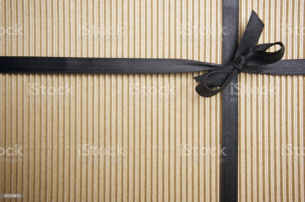 Corrugated Gift Box stock photo
