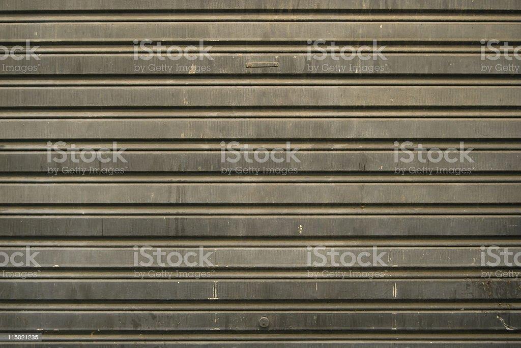 Corrugated iron door background royalty-free stock photo