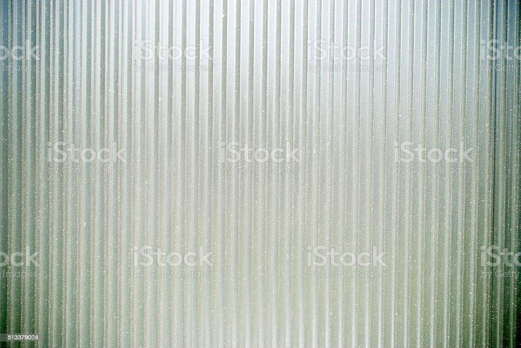 corrugated iron fence stock photo