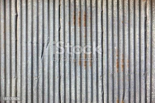 Weathered corrugated Iron/Tin fence