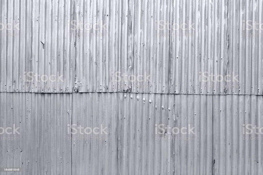 Corrugated iron stock photo