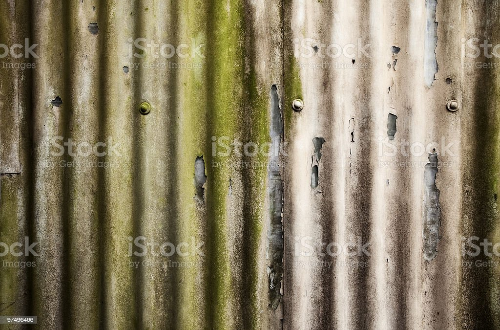 Corrugated iron royalty-free stock photo