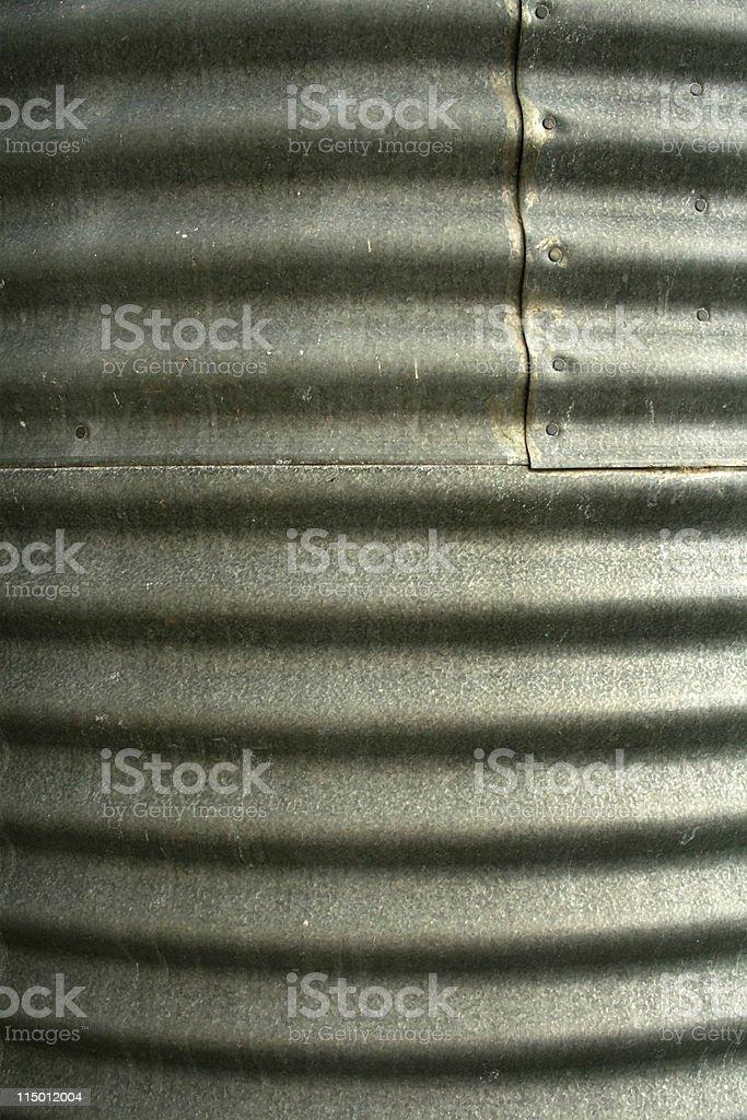 Corrugated Iron Rain Water Tank royalty-free stock photo