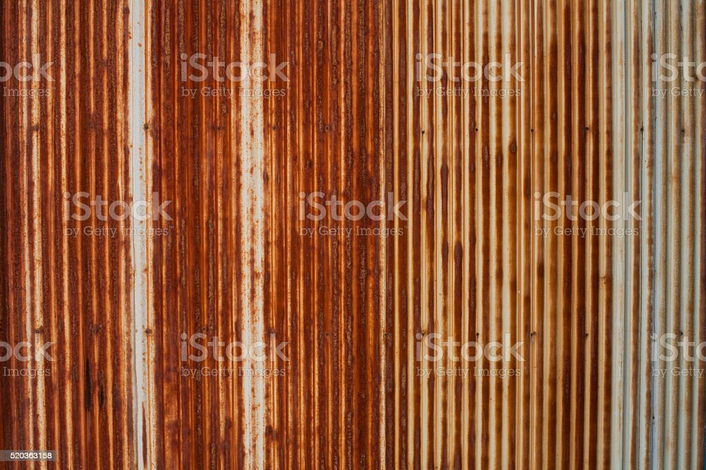 Corrugated Iron, Rusty Metal Texture stock photo