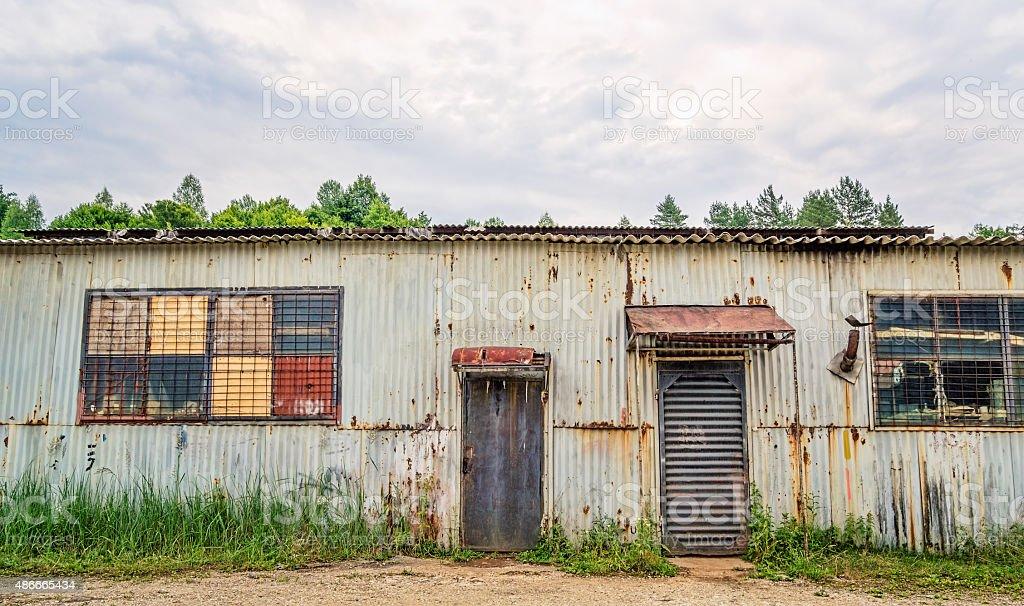 Corrugated Iron Shed stock photo