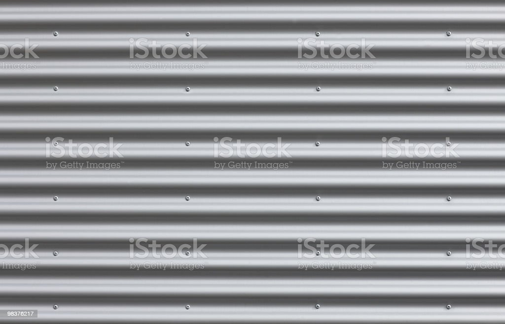 Corrugated Iron With Blanks stock photo