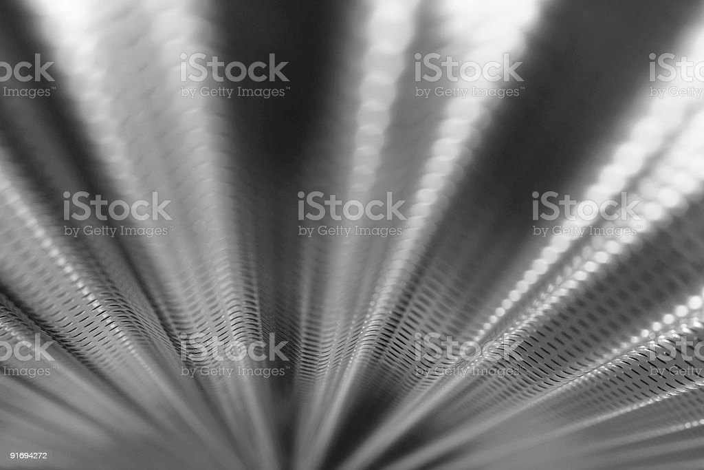 B&W Corrugated Metal Background royalty-free stock photo
