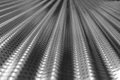 B&W Corrugated Metal Focused