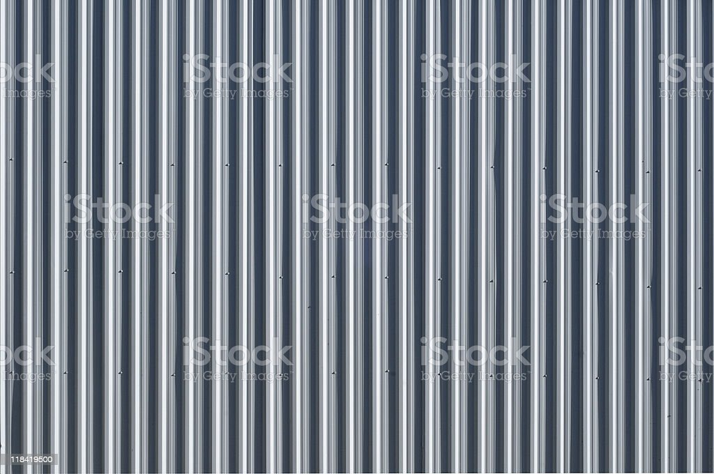 Corrugated metal - pattern / background royalty-free stock photo