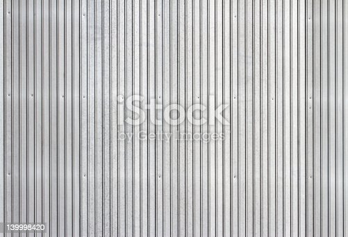 Corrugated Metal Siding Vertical Background Stock Photo