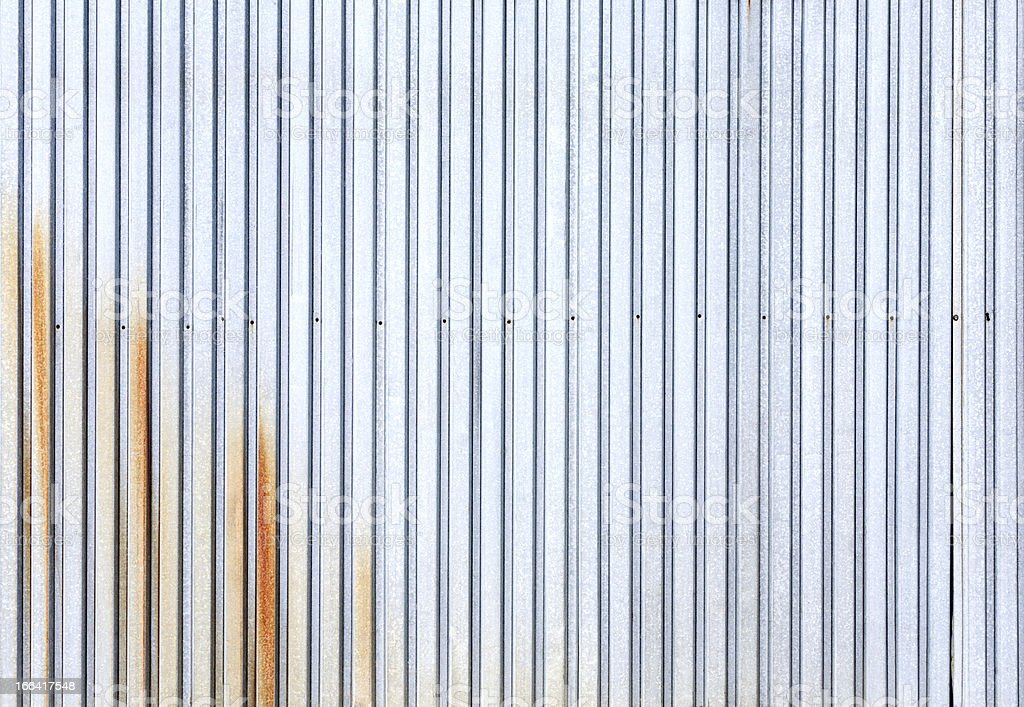 Corrugated metal surface royalty-free stock photo